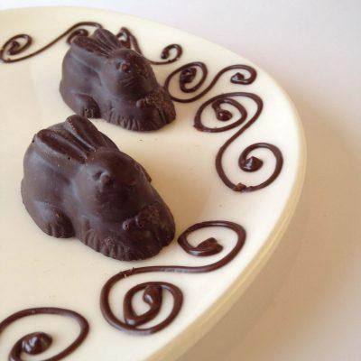 Extra Dark Chocolate Bunny 1